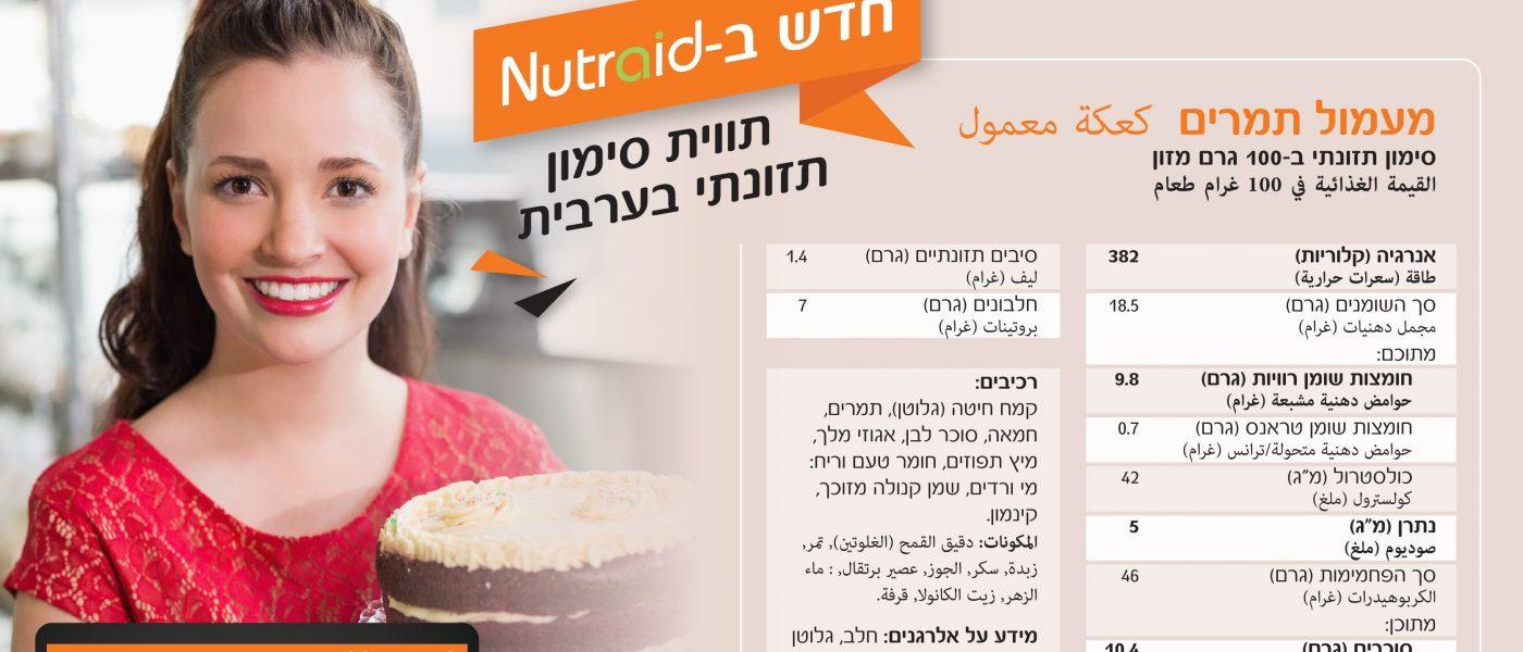 Nutraid במגזר הערבי: עזרה במלחמה בסוכר ובהשמנה